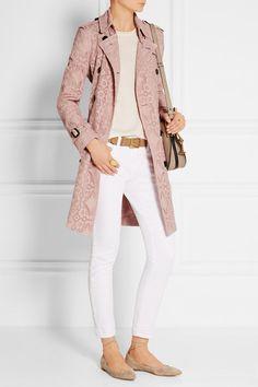 Burberry London | The Kensington crocheted cotton-blend trench coat | NET-A-PORTER.COM