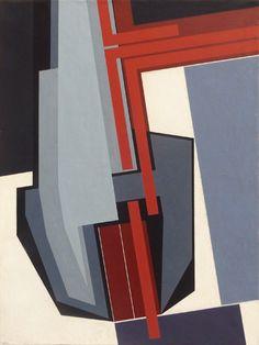 Gualtiero Nativi - Minaccia - Tempera su tela - 60x80 cm. - 1981