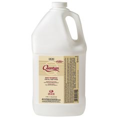 HC-40165 ZOTOS QUANTUM DAILY SHAMPOO - 1 GALLON Zotos Quantum daily shampoo gently eliminates impurities with a rich, full lather while locking in the natural moisture essential for healthy looking hair. Infused with advanced EQL 3+ complex, a combination of vegetable protein, vitamin E and sweet almond extract, that helps condition, repair and protect the hair.