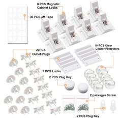 Baby Proofing 44 PCS Magnetic Cabinet Locks Child Safety Baby Safety 8 Cabinet Locks 2 keys 10 Corner Guards 20 Outlet Plug Covers with Strong Adhesive Tape and Metal Screws * Visit the image link more details. (This is an affiliate link)