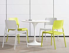 The Spark Series Side Chair brings energy to every room or patio with its bright colors and unique personality. A perfect balance of design and utility, the chairs are pleasing to the eye, comfortable, and versatile | Knoll