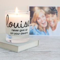 This personalised name scented candle makes a gorgeous gift.  The candle has the…