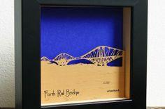 Forth Rail Bridge Mini Wall Art by Urban Twist.   Available in the Tartan Week.com Shop.