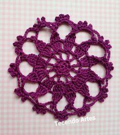 Motivos de Crochê para Aplique! Crochet doilies with diagrams #crochet #handmade