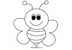 This page has a lot of free bee coloring pages for kids. Teachers can use these coloring pages for child education. [caption align=alignnone bee coloring pages . Bee Coloring Pages, Fish Coloring Page, Butterfly Coloring Page, Animal Coloring Pages, Free Printable Coloring Pages, Coloring Pages For Kids, Coloring Books, Bee Pictures, Colorful Pictures