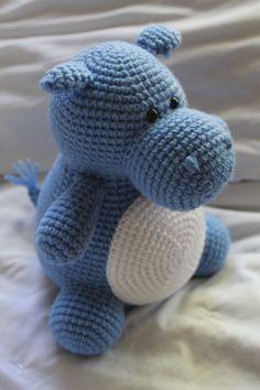 Hilda the Hippo Crochet Amigurumi PATTERN ONLY by daveydreamer