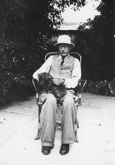 The artist Pierre Bonnard with his fellow companion.