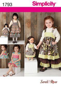 Simplicity 1793 Child's Dress Set & 18 Doll by VistrasBoutique