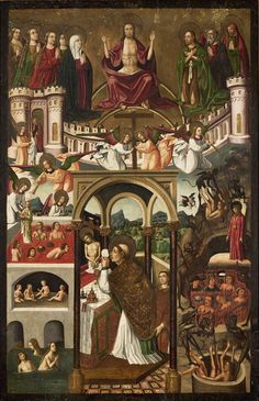 Mestre da Família Artés, O Juízo final e a missa de São Gregório (València, ca. 1500-20, Museu de Arte de São Paulo)