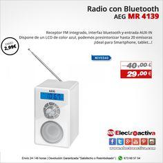 ¡Ideal para Smartphone, tablet...! Radio con Bluetooth AEG MR 4139 https://www.electroactiva.com/aeg-radio-con-bluetooth-mr-4139-blanca.html #Elmejorprecio #Radio #Chollo #Electronica #PymesUnidas
