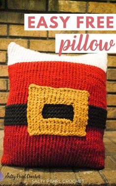 Make Christmas sweet this year with the free Santa Pillow Sham crochet pattern. You can find this free and easy pattern on Salty Pearl Crochet!