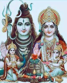 Shiva, Parvati, Kartikeya, Ganesha
