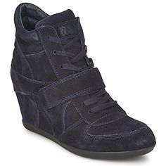 Wedge trainers are all the rage this season, and Ash are the leaders in this domain! #shoes #wedge #trainers #suede #blackshoes #autumn #ashshoes