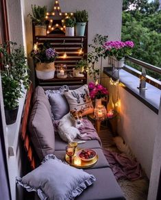 A friendly looking, inviting balcony