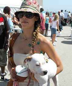 Jessica Alba and her Pit Bull, Bowie! So cute!!