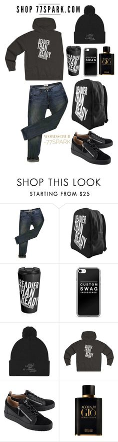 """""""What a Man! By 77 Spark"""" by kokoxpops ❤ liked on Polyvore featuring Acne Studios, Giuseppe Zanotti, Giorgio Armani, men's fashion and menswear"""