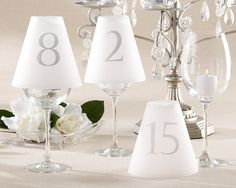 Looking for a unique way to display your wedding table numbers
