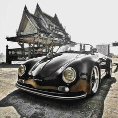 Porsche 356 Spyder Source by Porsche Panamera, Porsche 356 Speedster, Vintage Porsche, Vintage Cars, Antique Cars, Automobile, Porsche Cayenne, Bmw Classic Cars, Porsche Classic