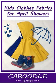 waterproof fabric, water resistant fabric, run off fabric, fabric for for making coats, splash suits and puddle suits. Kids Clothes Patterns, Clothing Patterns, Toddler Boy Fashion, Toddler Boys, Handmade Baby Clothes, Waterproof Fabric, Diy Clothing, Baby Accessories, Trendy Fashion