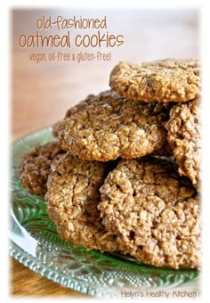 Helyn's Healthy Kitchen: Old-fashioned Oatmeal Cookies