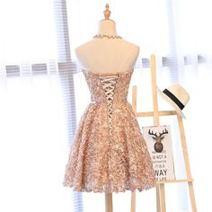 Chic Homecoming Dress Sweetheart Lace Tulle Short Prom Dress Party Dress JK409