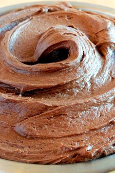 Chocolate-Nutella Cream Cheese Buttercream by WickedGoodKitchen.com ~ An irresistible cream cheese buttercream made even better with Nutella! #cake #dessert #filling #frosting #recipe