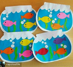 fish crafts for toddlers preschool crafts Kids Crafts, Sea Crafts, Daycare Crafts, Summer Crafts, Toddler Crafts, Arts And Crafts, Summer Art Projects, Toddler Art, Art N Craft