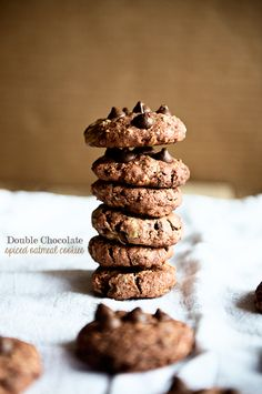 Double the chocolate, double the fun! These Double Chocolate Oatmeal Cookies with a little bit of spice are what you are craving!
