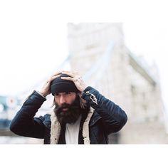 Ricki Hall - full thick dark beard and mustache beards bearded man men mens' style winter fashion #beardsforever