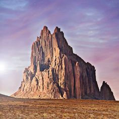 """Beautiful Shiprock (Tse Bit'a'i - Rock with wings) is in the high desert plain of the Navajo Reservation, located right outside of Shiprock, NM. The…"""