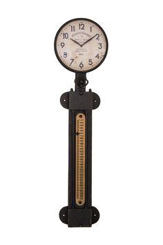 Διακοσμητικά :: Ρολόγια Τοίχου :: Ρολόι Τοίχου Ημερολόγιο Μεταλλικό Industrial Μαύρο 77.5εκ. Design
