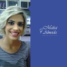 Olha que linda nossa cliente <3 Mais uma produção Maisa Almeida. #Cabelo #MakeUp #Linda #CentroEstetico