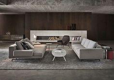 Ce salon très chaleureux vous fera apprécier vos moments de détente.© Minotti