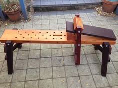 """The Joy of Wood: Combining a Shaving Horse and Bowl Carving Bench - My """"Mk III"""" Shaving Horse."""