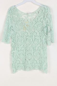 Crochet Anna Top in Soft Mint
