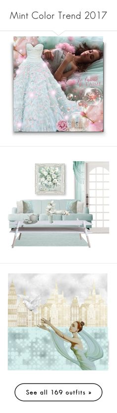 """""""Mint Color Trend 2017"""" by yours-styling-best-friend ❤ liked on Polyvore featuring Oscar de la Renta, Casadei, Larkspur & Hawk, interior, interiors, interior design, home, home decor, interior decorating and ESPRIT"""