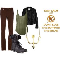 MY HUNGER GAMES OUTFIT. I am obsessed.