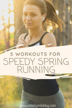 Looking to pick up the pace this spring? Try these workouts that will help you build strength and speed to prepare for a successful season of racing this spring and summer. Here are 5 workouts for speedy spring running. Marathon Training For Beginners, Running For Beginners, Half Marathon Training, Running Tips, Workout For Beginners, Road Running, Running Workout Plan, Speed Workout, Plyometric Workout
