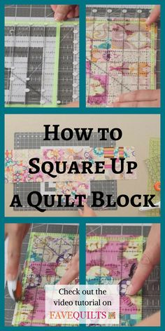 Squaring up quilt blocks is easier than you may think. Our video tutorial will show you how to do it fast and correctly.