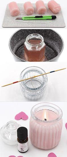 DIY Kerze gießen: Duftkerze für Euer zuhause selbst machen. Auch eine schöne DIY Geschenk Idee. Einfache Anleitung.