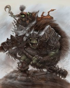 orc/goblin/color/style/composition/style