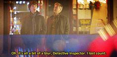"""My response to: """"How many times have you re-watched Sherlock?"""" Each episode at least 18 times... no joke..."""