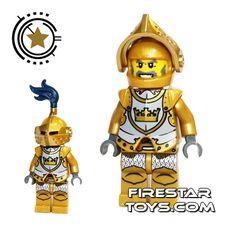 LEGO Castle - Fantasy Era - Gold Knight   Castle LEGO Minifigures   LEGO Minifigures   FireStar Toys