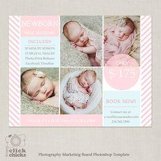 Mini Session Template - Photography Marketing Board - Newborn Mini Session 057 - C205, INSTANT DOWNLOAD