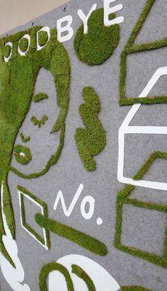 Groene betondecorum op de DERU.