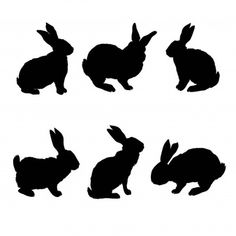Animals silhouettes collection Vector   Free Download Rabbit Silhouette, Silhouette Clip Art, Animal Silhouette, Animal Stencil, Stencil Art, Stencils, Bunny Drawing, Cartoon Icons, Forest Animals