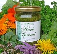 Our herb spread is a unique blend of fresh traditional and wild herbs in olive oil. Versatile, healthy and delicious! Mason Jars, Herbs, Canning, Healthy, Bliss, Home Canning, Mason Jar, Herb