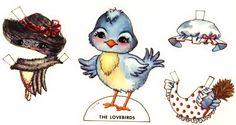 The Blue Lovebird Paper Doll
