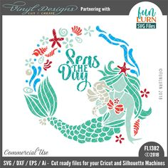 This mermaid wreath cut file used by crafters, DIY, hobby and small craft businesses. Works with Silhouette Cameo, Cricut & other Vinyl Plotters. Great for stenciling, PVPP, HTV & Adhesive Vinyl. The cut file will come in DXF, SVG, EPS & Ai formats & comes with small business commercial use rights. (This is an affiliate link and I may receive a small commission for the referral but it will not cost you anything extra by using my link). #svg