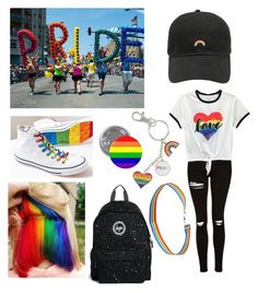 Designer Clothes, Shoes & Bags for Women Bisexual Pride, Gay Pride, Pride Shoes, Pride Outfit, Rainbow Outfit, Lgbt Love, Cool Outfits, Fashion Outfits, Pride Parade